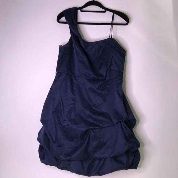 Torrid Plus Size Navy Single Strap Bubble Dress